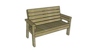 2×4 Garden Bench Plans