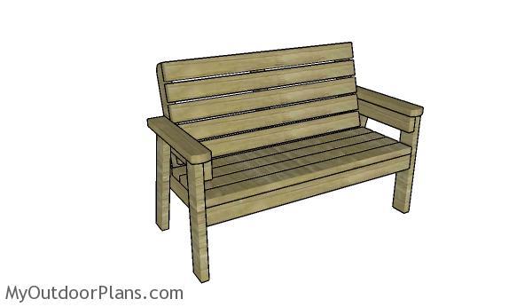 2x4 Garden Bench Plans