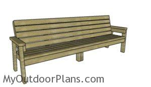 8 ft bench plans
