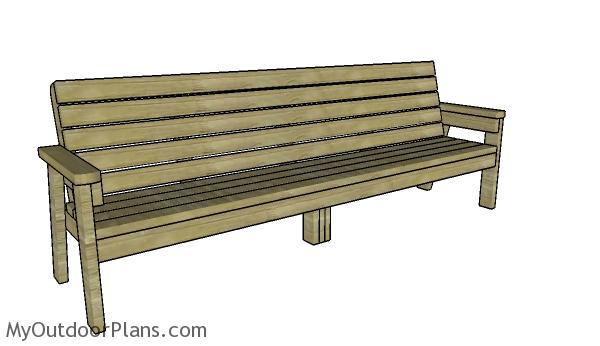Tremendous 8 Ft Bench Plans Myoutdoorplans Free Woodworking Plans Creativecarmelina Interior Chair Design Creativecarmelinacom