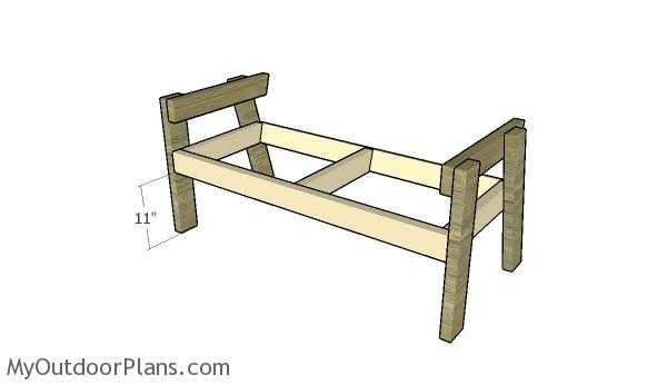 Assembling the bench frame