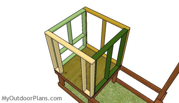 Assembling the chicken coop