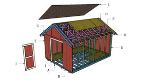 Free 12×16 Shed Roof Plans