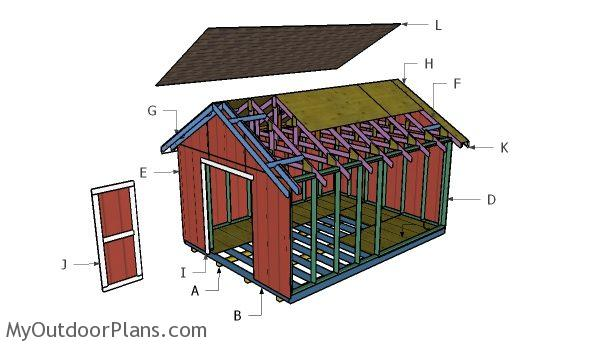 Free 12x16 Shed Roof Plans Myoutdoorplans Free