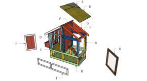 4×8 Chicken Coop Roof Plans