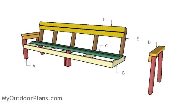 Building a 8 ft bench