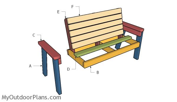 2x4 Garden Bench Plans | MyOutdoorPlans | Free Woodworking ...