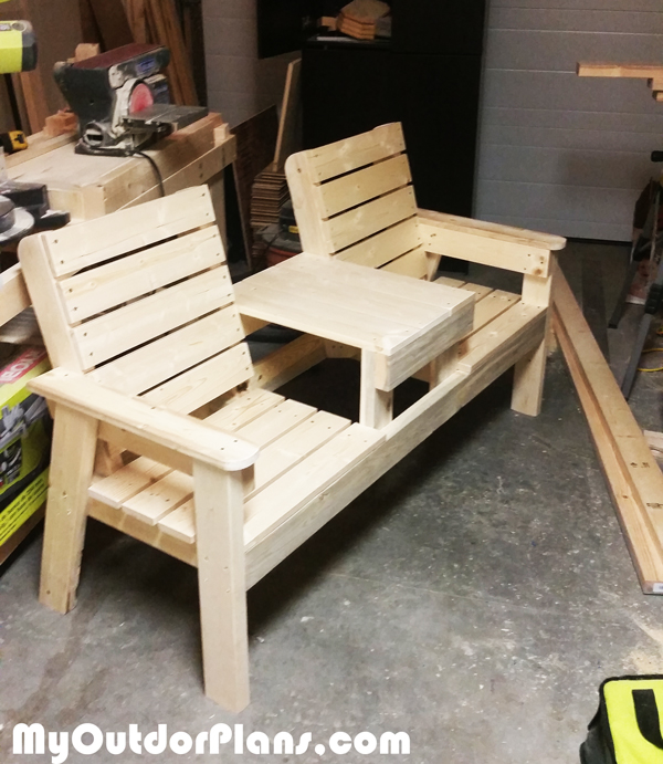 Building-a-wood-double-chair-bench