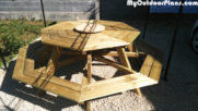 DIY Octagonal Picnic Table