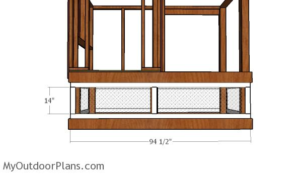 Chicken run front and back frames