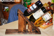 DIY Wine Holder for 3 Bottles