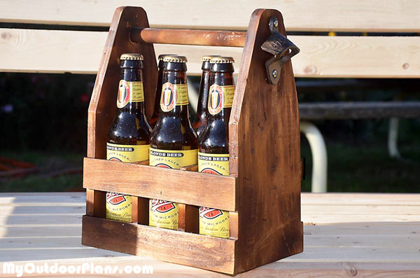 DIY Beer Caddy | MyOutdoorPlans | Free Woodworking Plans and Projects, DIY Shed, Wooden ...