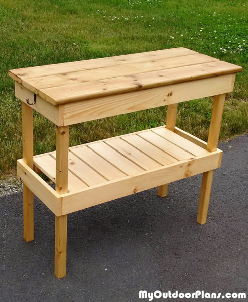DIY BBQ Table MyOutdoorPlans Free Woodworking Plans
