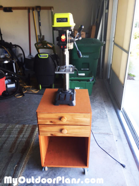 DIY Drill Press Stand | MyOutdoorPlans | Free Woodworking ...