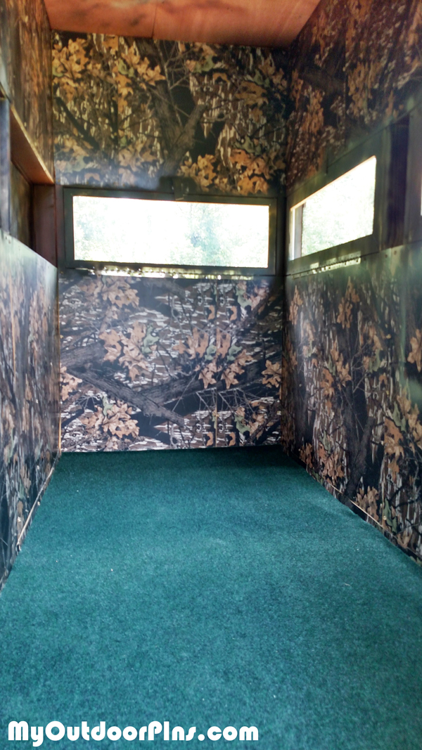 Deer-blind-interior