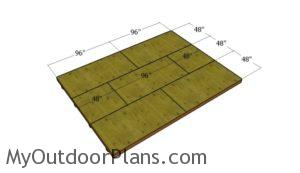 Fitting the plywood floor sheets