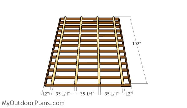 12x16 shed plans myoutdoorplans free woodworking plans for 12x16 deck plans free