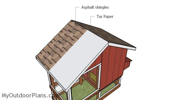 Roofing the chicken coop