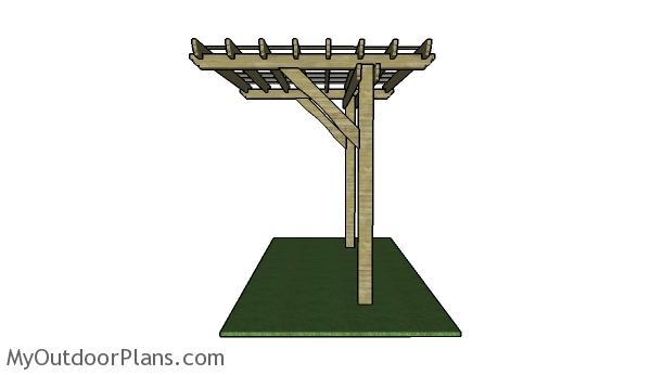 2 Post Pergola Plans Myoutdoorplans Free Woodworking