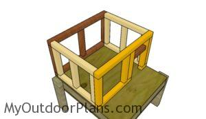 Assembling the frame of the cat house