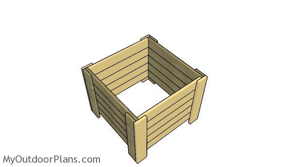 Assembling the wishing well planter