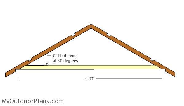 Attaching the bottom truss