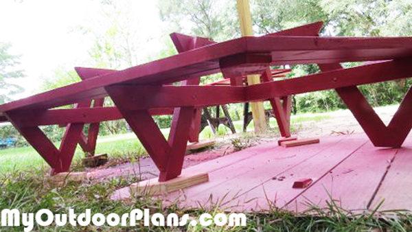 DIY Large Picnic Table. Bench