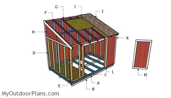 8x12 lean to shed plans myoutdoorplans free for Lean to plans free