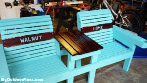 Building-a-double-chair-bench-with-cupholders