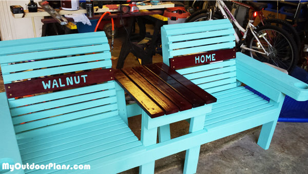 Magnificent Diy Double Chair Bench With Cupholders Myoutdoorplans Ncnpc Chair Design For Home Ncnpcorg