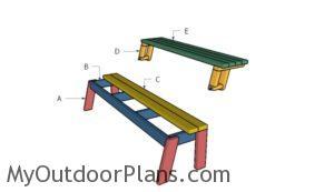 Building a folding picnic table