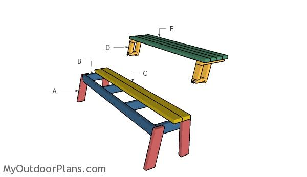 Building a folding picnic table
