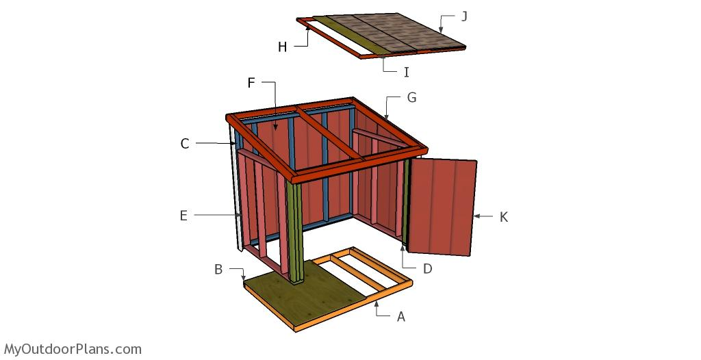 Large Generator Shed Roof Plans