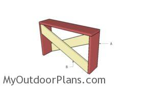 Building a simple entryway table