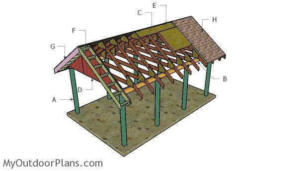 How to build a carport gable roof myoutdoorplans free for 2 car carport plans