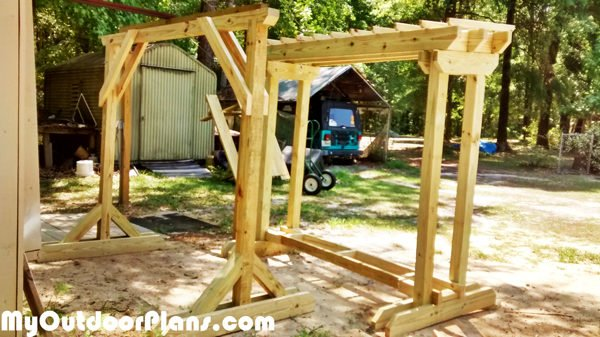Diy Wood Swing Stand Myoutdoorplans Free Woodworking