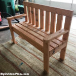 DIY 2×4 Wood Garden Bench