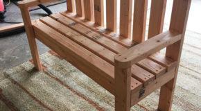 DIY 2×4 Wood Garden Bench