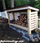 DIY Backyard Firewood Shed
