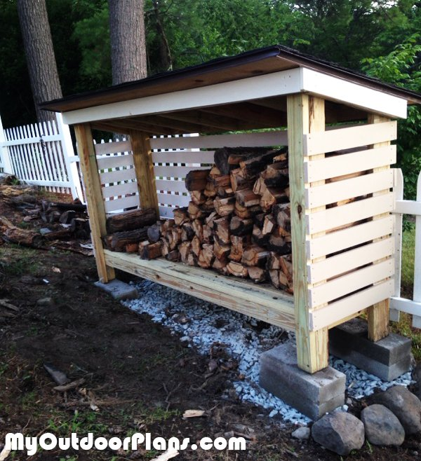 DIY Backyard Firewood Shed
