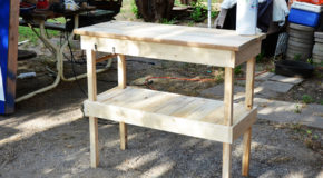 DIY Wood BBQ Table