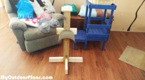 DIY Wood Hose Holder