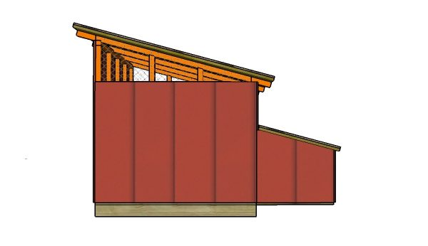 Duck house plans - Side view