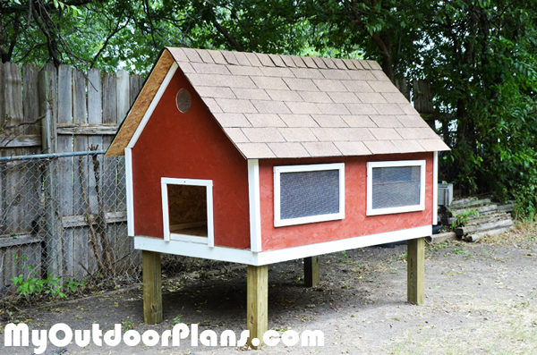 diy chicken coop with nesting boxes myoutdoorplans