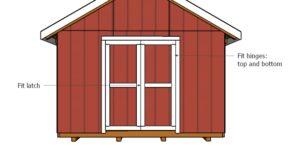 12×16 Shed Double Door Plans