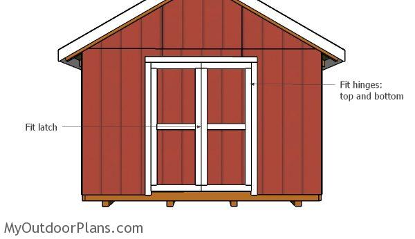 12x16 shed double door plans myoutdoorplans free for Double door shed plans