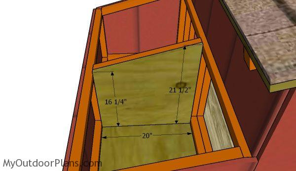Fitting the nesting box partition