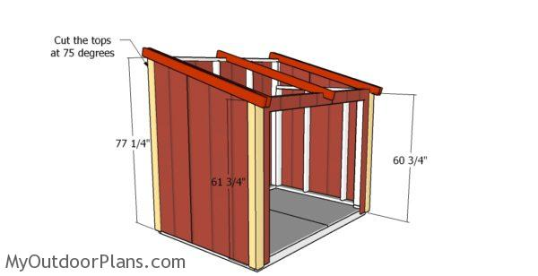 Fitting the shed trims