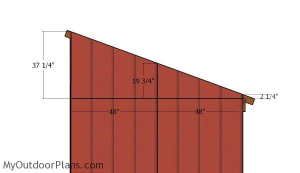 Fitting theroof side ends