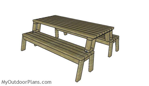 Folding Picnic Table Plans | MyOutdoorPlans | Free Woodworking Plans And  Projects, DIY Shed, Wooden Playhouse, Pergola, Bbq